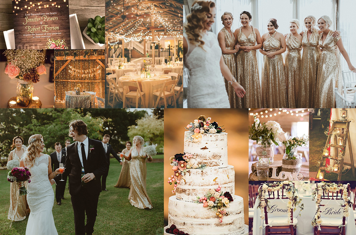 10 gorgeous colour themes styling for your wedding party for Nature themed wedding dress
